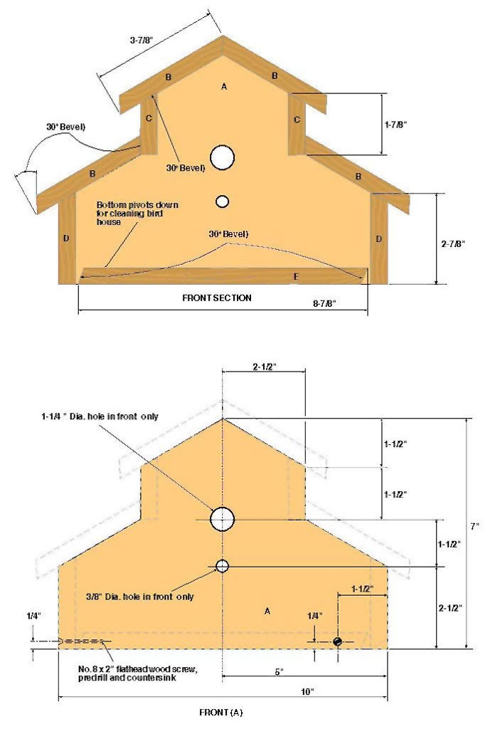 Pdf diy birdhouse plans beginners download birdhouse plans Free simple house plans to build