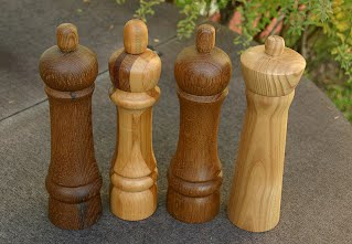 Turned Wood Peppermills