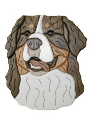 Dog made by Intarsia