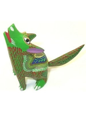 Coyote Oaxacan woodcarving