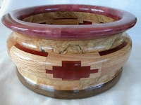 Turned Segmented Wood Bowl