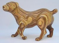 Carving an animal in wood